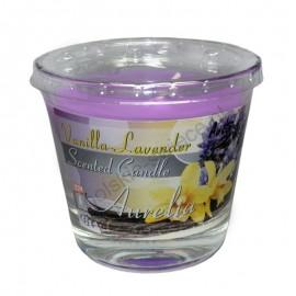 Duża świeca zapachowa- wanilia-lawenda