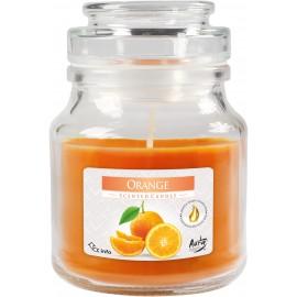 """Świeca w szkle z wieczkiem """" Pomarańcza"""""""