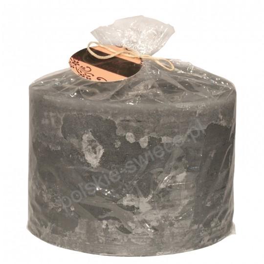 Świeca rustykalna szara 150/100