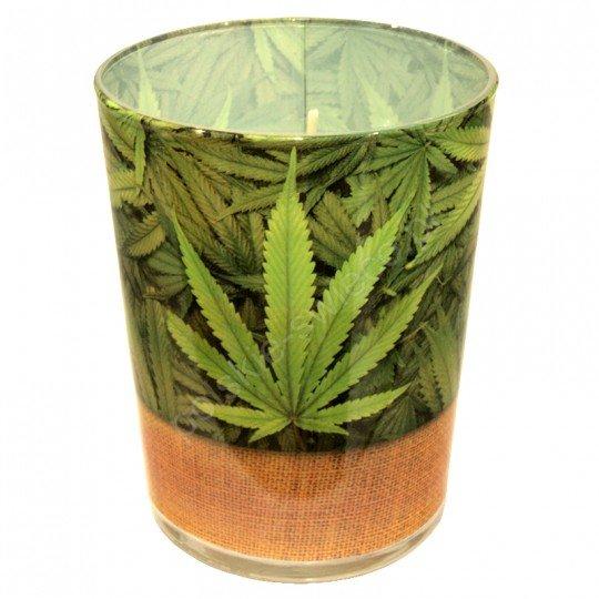 """Świeca w szkle """" Marihuana"""" 79/94"""
