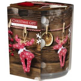 """Świeca zapachowa w szkle """"Świąteczny prezent"""""""