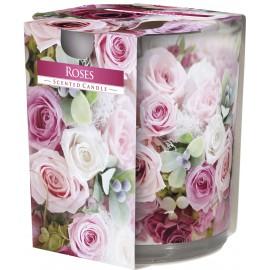 """Świeca zapachowa w szkle """"Róże"""""""