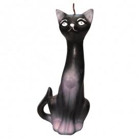 Świeca dekoracyjna kot czarny