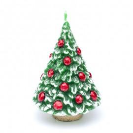 Świeca CHOINKA bombka 14 cm, zapachowa, zielona