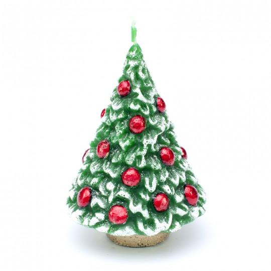 Świeca CHOINKA 14 cm, zapachowa, zielona