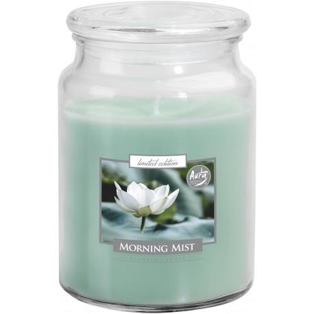 Duża świeca zapachowa z wieczkiem PORANNA ROSA