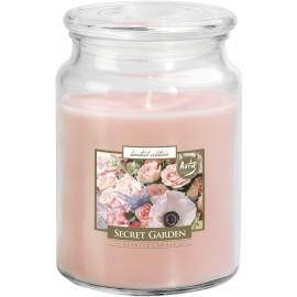 Duża świeca zapachowa XXL z wieczkiem TAJEMNICZY OGRÓD
