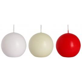 Świeca klasyczna kula 80 mm, kolory
