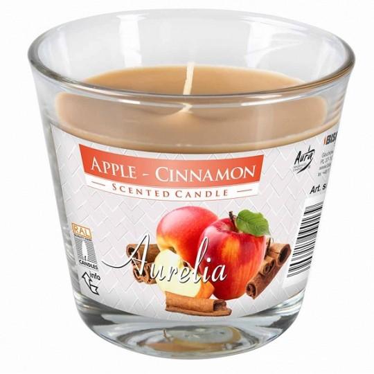 Duża świeca zapachowa jabłko-cynamon