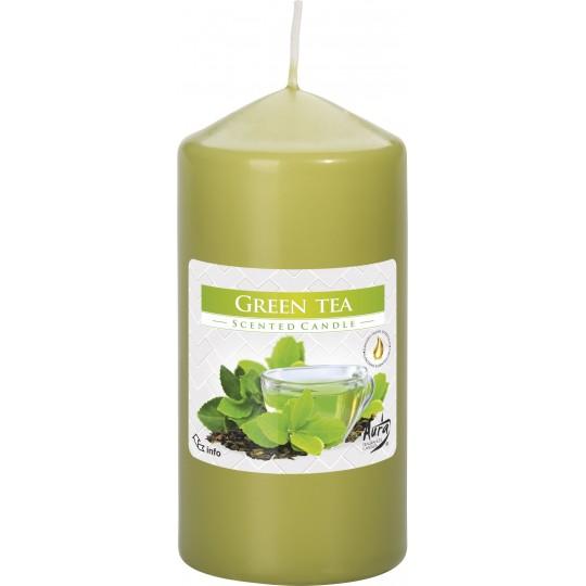 Świeca zapachowa walec - ZIELONA HERBATA