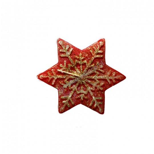 Świeca gwiazda mniejsza czerwona