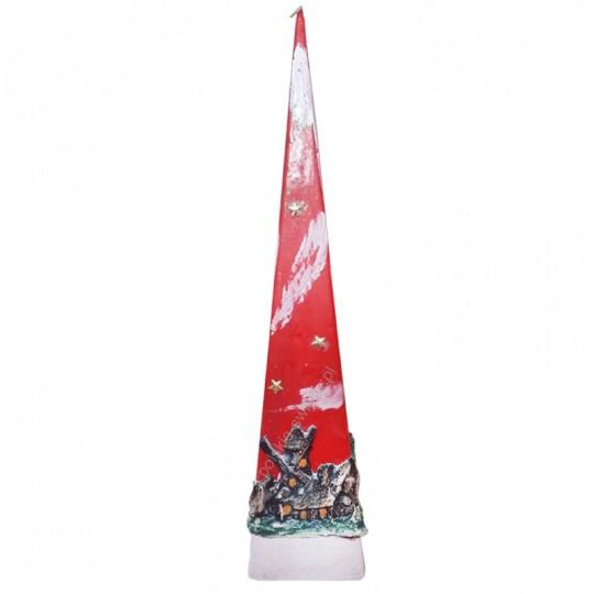 Świeca piramida świąteczna 60 cm ! czerwona