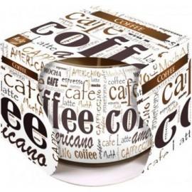 """Świeca w szkle i folii """"Coffee"""""""
