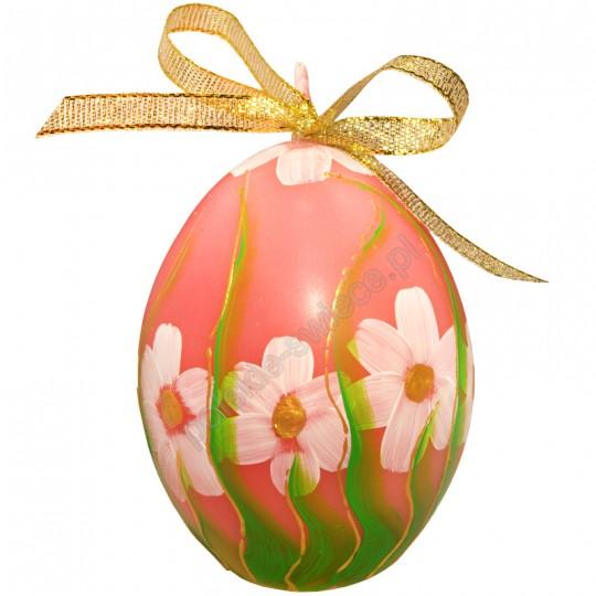 Jajko Wielkanocne, recznie malowane, mat, 3 kolory