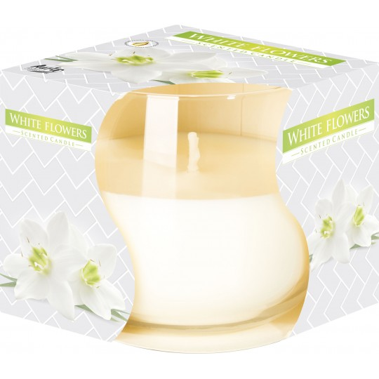 """Świeca zapachowa w szkle """"Białe kwiaty"""""""
