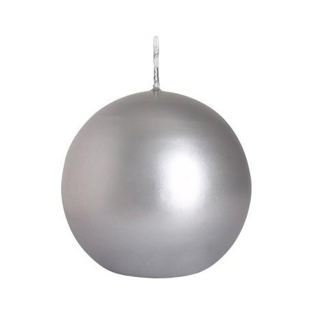 Świeca kula metalizowana 80mm bispol