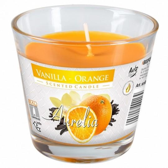 Duża świeca zapachowa wanilia-pomarańcza