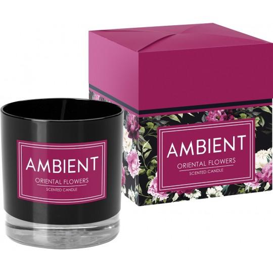 Świeca zapachowa w szkle AMBIENT ORIENTAL FLOWERS