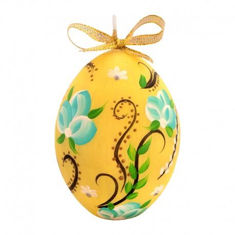 Świeca jajko, ręcznie malowane !!!