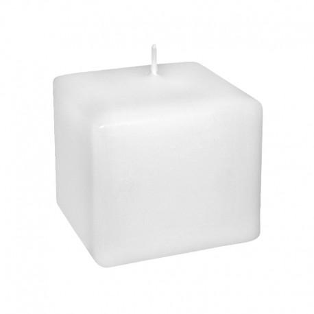 Świeca klasyczna kwadrat 80/80 biała