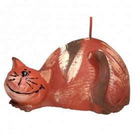 Świeca Kot brązowy