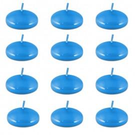 Świece pływające niebieskie małe 12 sztuk