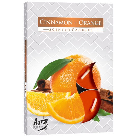 Podgrzewacze zapachowe CYNAMON-POMARAŃCZA 6 szt.