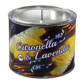 Duża świeca zapachowa w puszce Citronella z Lawendą