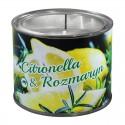 Duża świeca antykomarowa w puszce Citronella z Rozmarynem