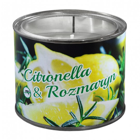 Duża świeca zapachowa w puszce Citronella z Rozmarynem