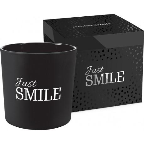 Świeca zapachowa z dwoma knotami JUST SMILE