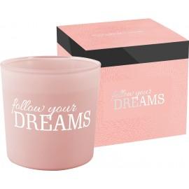 Świeca zapachowa z dwoma knotami FOLLOW YOUR DREAMS