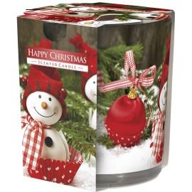 Świeca zapachowa w szkle HAPPY CHRISTMAS