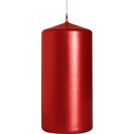 Świeca walec 50/100 czerwony metalik