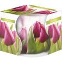 """Świeca zapachowa w szkle i folii """"Tulipany różowe"""""""