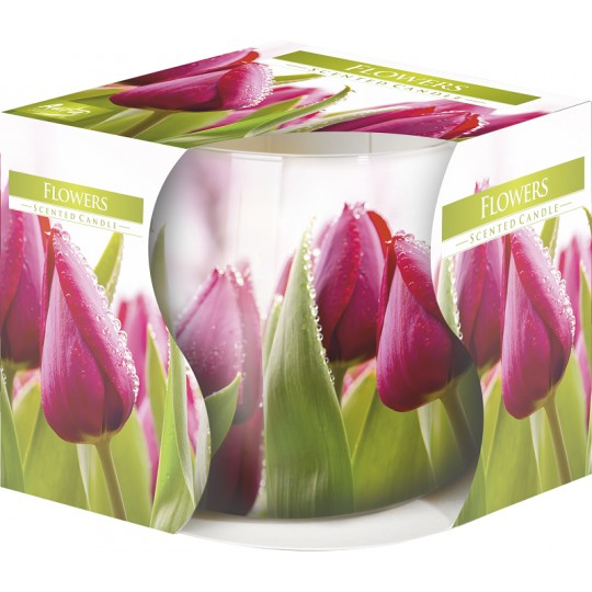 """Świeca w szkle"""" Tulipany różowe"""""""
