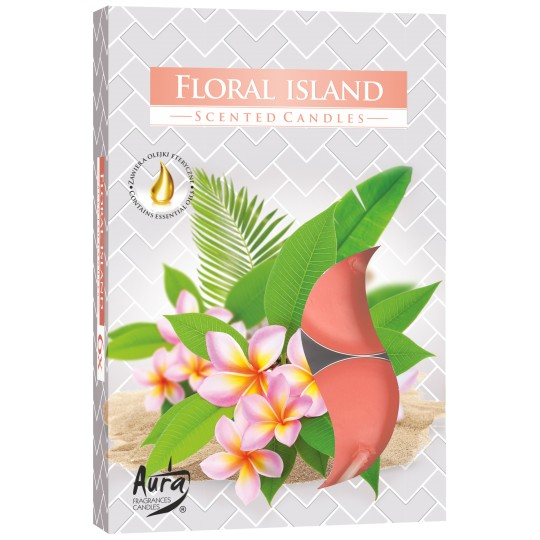 Podgrzewacze zapachowe - Kwiatowa wyspa 6 szt