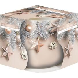 """Świeca zapachowa w szkle i folii """" Wspaniałe Święta"""""""