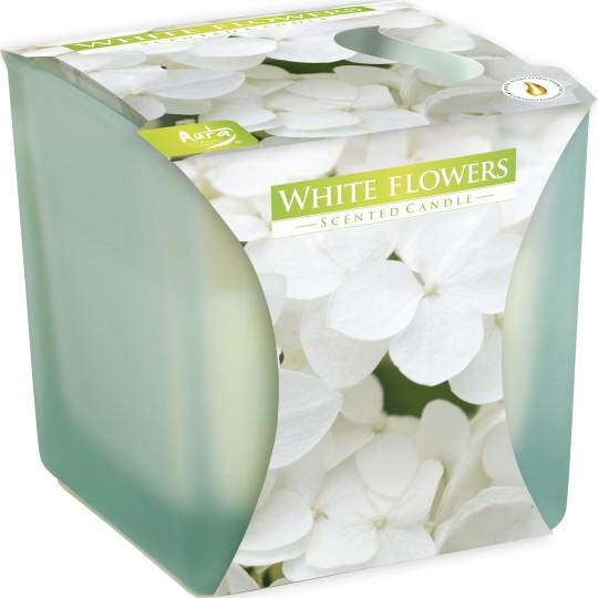 """Świeca zapachowa w szkle matowym """"Białe kwiaty"""""""