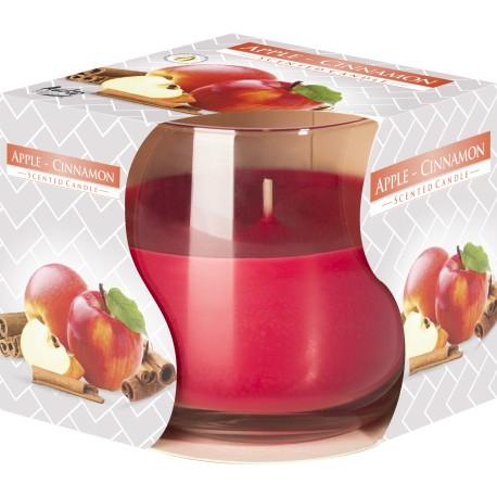 Świeca w szkle Jabłko-cynamon