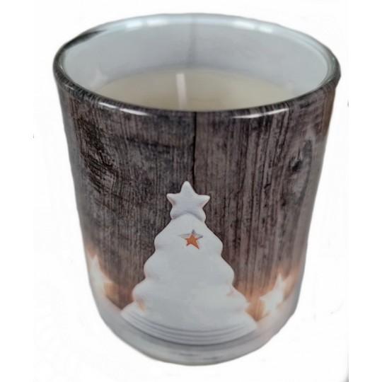 """Świeca zapachowa w szkle i folii """"Świąteczny blask"""""""