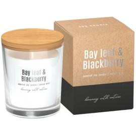 Sojowa świeca zapachowa w szkle Liść laurowy - jeżyna