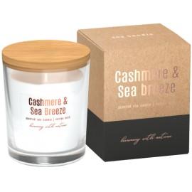 Sojowa świeca zapachowa w szkle Kaszmir - Bryza Morska