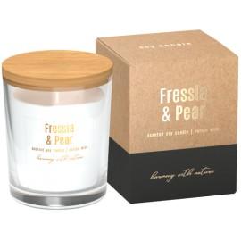 Sojowa świeca zapachowa w szkle Frezja - Gruszka