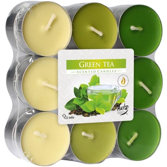 """Podgrzewacze zapachowe """" Zielona herbata """"18 szt. ~ 4h"""