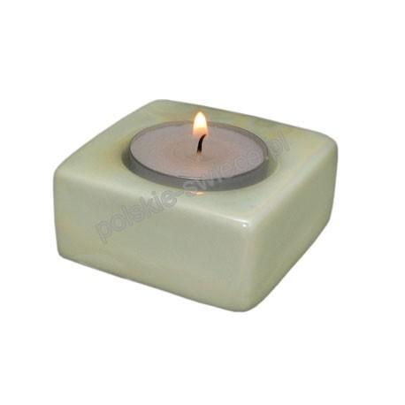 Świecznik TEA LIGHT perła green 65/65/20