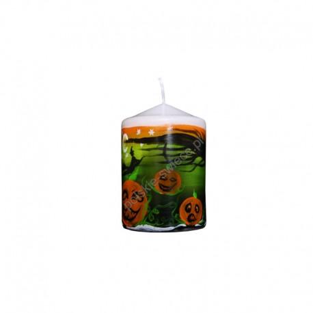 Świeca ręcznie malowana Halloween 70/100